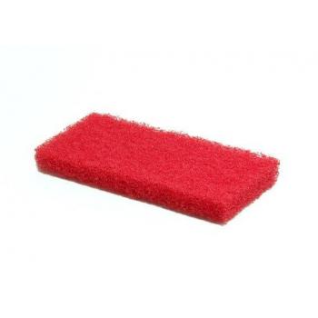 Pads rouges pour nettoyage 26 x 12 cm - paquet de 5