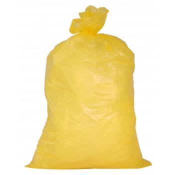 Sacs linge 110 l ldpe 30 my jaunes - carton de 8 x 25