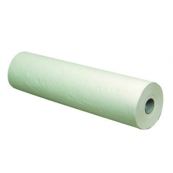 Drap d'examen blanc 2 couches cellulose + pe - 59 x 38 cm - carton de 6 x 132 f