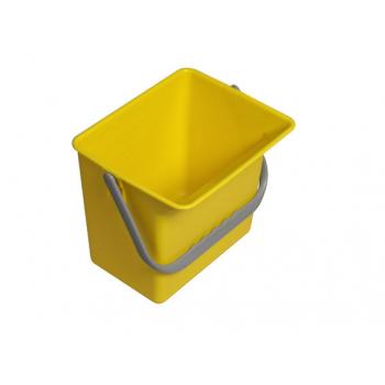 Seau carre jaune - 6 l - unite