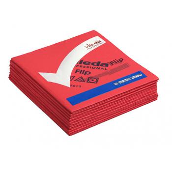 *lavettes non-tissees flip rouge 39 x 36 cm - paquet de 10