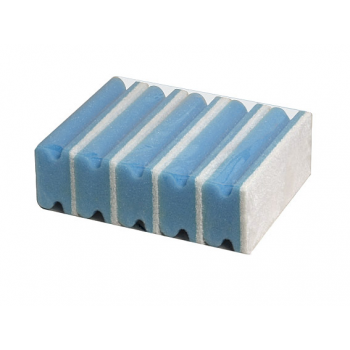 Eponges bleues + abrasif blanc 14,5 x 7 x 4,5 cm - paquet de 5