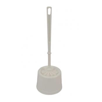 Combine support et balayette wc plastique blanc - unite