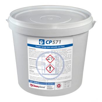 Cp 571 - poudre lavage lave-vaisselle eau dure - seau de 10 kg