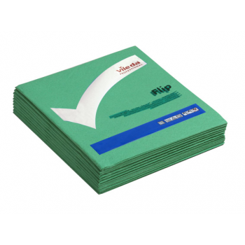Lavettes non-tissees pva micro vert 40 x 40 cm - paquet de 5