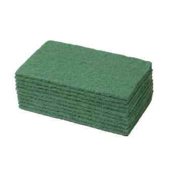 Tampons abrasifs verts pour nettoyage 22 x 15 cm - paquet de 10