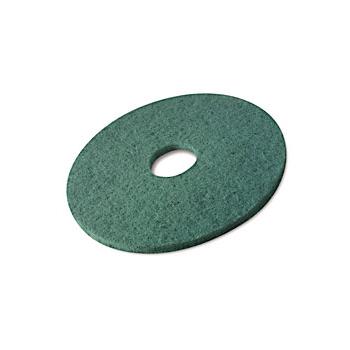 Disques verts pour autolaveuse (lavage) diam 410 mm - carton de 5