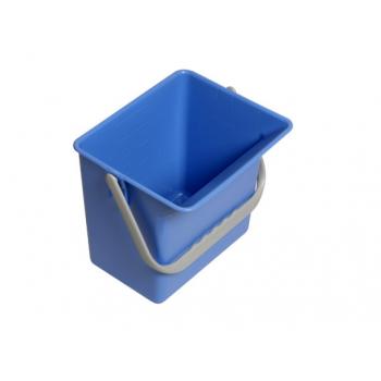 Seau carre bleu - 6 l - unite