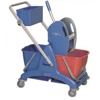 Chariot de lavage complet avec 2 seaux 15 l + presse + bac - unite