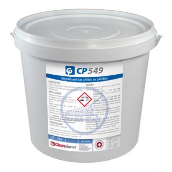 Cp 549 - degraissant bac a frites en pastilles - seau de 10 kg