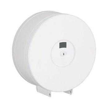Distributeur metal blanc pour papier toilette jumbo 700260 - unite