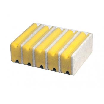 Eponges jaunes + abrasif blanc 14,5 x 7 x 4,5 cm - paquet de 5