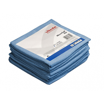 Lavettes microfibre tricotees microtuff bleu 36 x 36 cm - paquet de 5