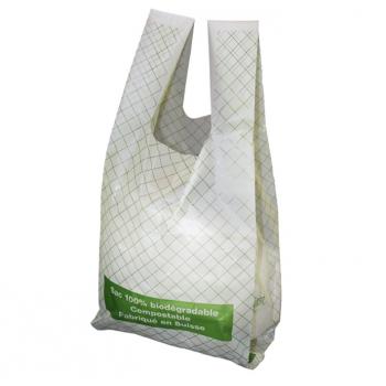 Sac compostable 7 l a bretelles 20 my - carton de 24 x 15