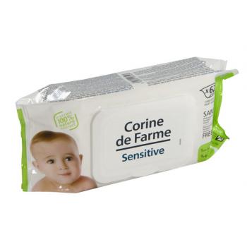 Baby wipes - sachet souple de 62 lingettes impregnees sans paraben  - carton de 12