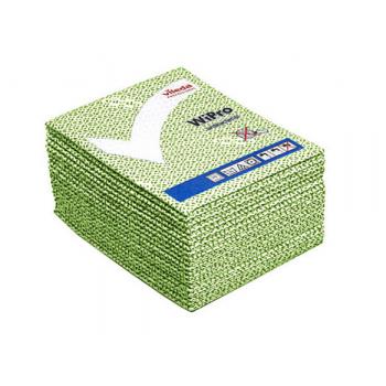 Lavettes non-tissees anti-bacterie wipro vert 36 x 42 cm - paquet de 20
