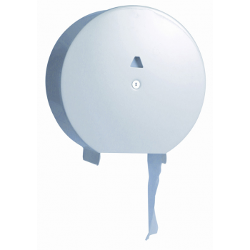 Distributeur de papier toilette 1 rouleau mini jumbo blanc - unite