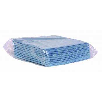 Chiffons non-tisses pastel bleu 38 x 40 cm - paquet de 10