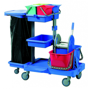 Chariot de ménage, lavage complet