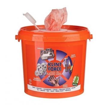 Lingette nettoyante mains «KLINT FORCE»- Seau de 70 - Carton de 6 seaux