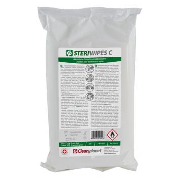Lingettes désinfectantes de surface Steriwipes C - Recharge de 25 grandes lingettes - Unité