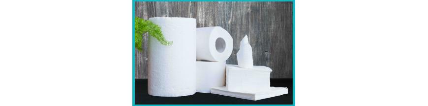 Essuie-tout, papier ménage et mouchoirs